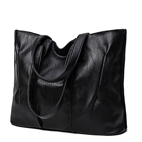 6cafc92f4a77 Amazon.com: UOXMDNJC Pu Leather Bags Handbags Women Big Capacity ...