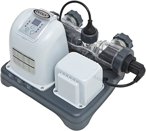 Electrocatalytic Oxidation for Above Ground Pools 110-120V with GFCI Intex Krystal Clear 1500 GPH Sand Filter Pump /& Saltwater System with E.C.O. Renewed
