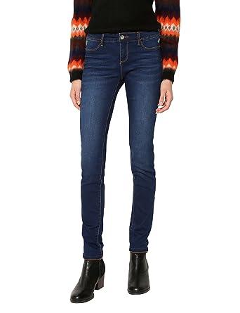Desigual Denim_Second Skin Jeans Ajustados para Mujer