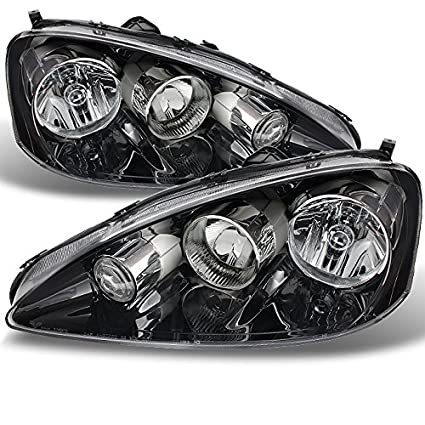 Amazoncom For Acura RSX Integra DC Clear Chrome Headlights Front - Acura rsx headlights