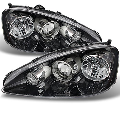 For Acura RSX Integra DC5 Clear Chrome Headlights Front Lamps Replacement Pair Left + Right Set