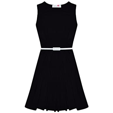 Girls Plain Skater Dress Kids Party Dress A New Look Fashion Dress