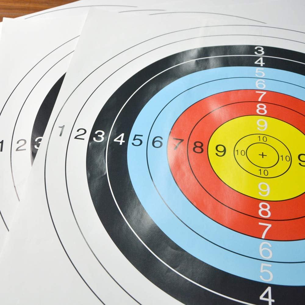 60cm avec Clou Cible pour La Pratique des Objectifs de Tir AMEYXGS 10pcs Tir /à larc Papier Cible 60