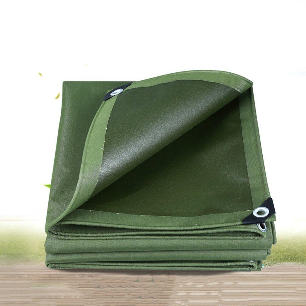 ターポリン高強度厚い防雨高強度ワイヤートラック区画貨物ヤードヤードテントクロス屋外0.75 mm 600 g/m2緑10サイズ (サイズ さいず : 4*4m) B07D9LZLHR 4*4m  4*4m