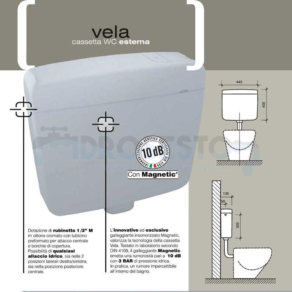 Cassetta WC esterna vela PNEUMATICO