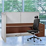 GOF L-Shaped Freestanding Partition 36D x 72W x 48H / Office, Room Divider (36D X 72W X 48H)