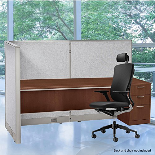 GOF L-Shaped Freestanding Partition 36D x 72W x 48H / Office, Room Divider (36D X 72W X 48H) by GOF
