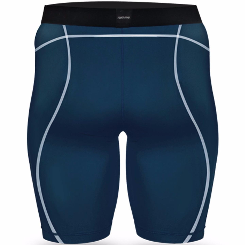 New Take Five Base Layer Mens Compression Skin Tights 034 Navy Sports Shorts