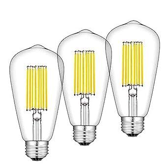 Bonlux 12W ST64 E27 LED Filamento Edison Bombilla De Luz Cálida 2700k 1300 Lúmenes Con Bajo