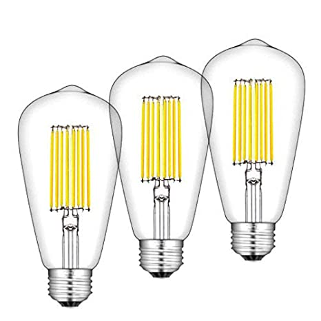 Long Bonlux 12w Cage 120w St64 Led Filament Squirrel Es Style Warm White Light E27 Edison Bulb 2700k Vintage Ybyv7gIf6