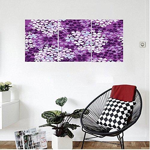 Liguo88 Custom canvas House Decor Lilacs llustration Greenery Field Backyard Freshness Hydrangea Artistic Design Bedroom Living Room (Lilacs Yard Design)