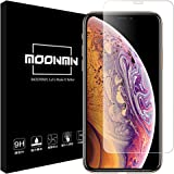 MOONMN iPhone XS MAX フィルム【日本製素材旭硝子製】iPhone XS MAX ガラスフィルム 極高硬度9H iPhone XS Max 強化ガラスフィルム Face IDに対応 高鮮明 指紋防止 タッチが滑 自動吸着 6.5インチ 用