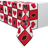 Plastic Casino Party Tablecloth, 7ft x 4.5ft