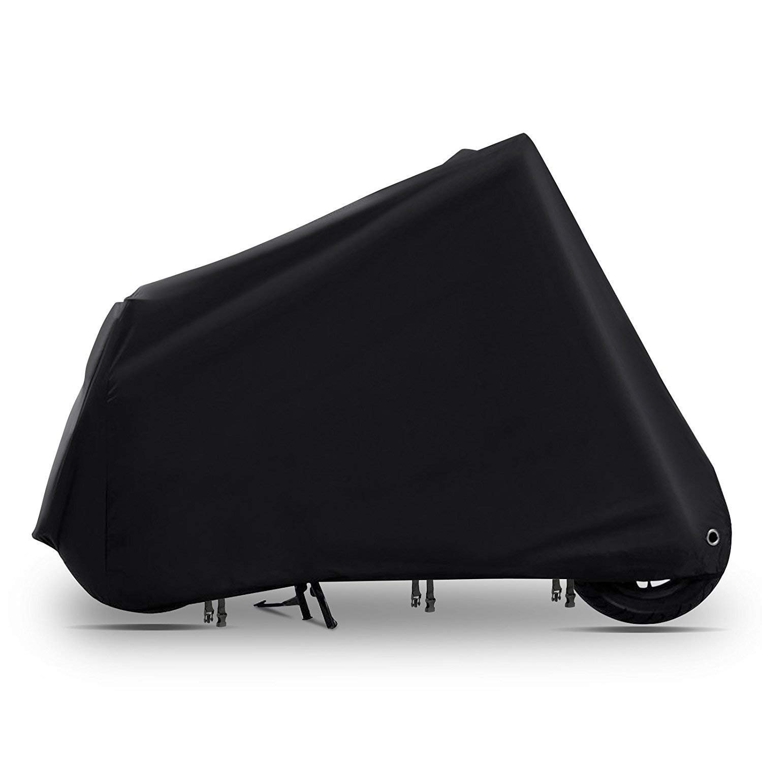Vmotor 210D Oxford All-Weather Motorcycle Cover-Heavy Duty Extra Large for 104 Inch Motorcycles Like Honda, Yamaha, Suzuki, Harley. Keeps Your Bike Dry and Protected Year Round(Black)