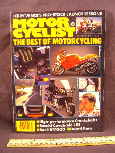 1986 86 October MOTORCYCLIST Magazine (Features: Buell RR1000, Ducati 750 Paso, Haarley Davidson FXRT Sport Glide, & Suzuki GV1400 GCG Cavalcade LXE)