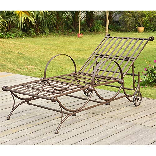 Mandalay Single Multi-Position Chaise Lounge -Rustic Brown