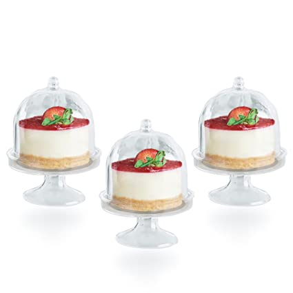 Posh Setting Mini Collection Mini Cake Plate with Stand and Dome Cover Heavyweight Clear  sc 1 st  Amazon.com & Amazon.com: Posh Setting Mini Collection Mini Cake Plate with Stand ...