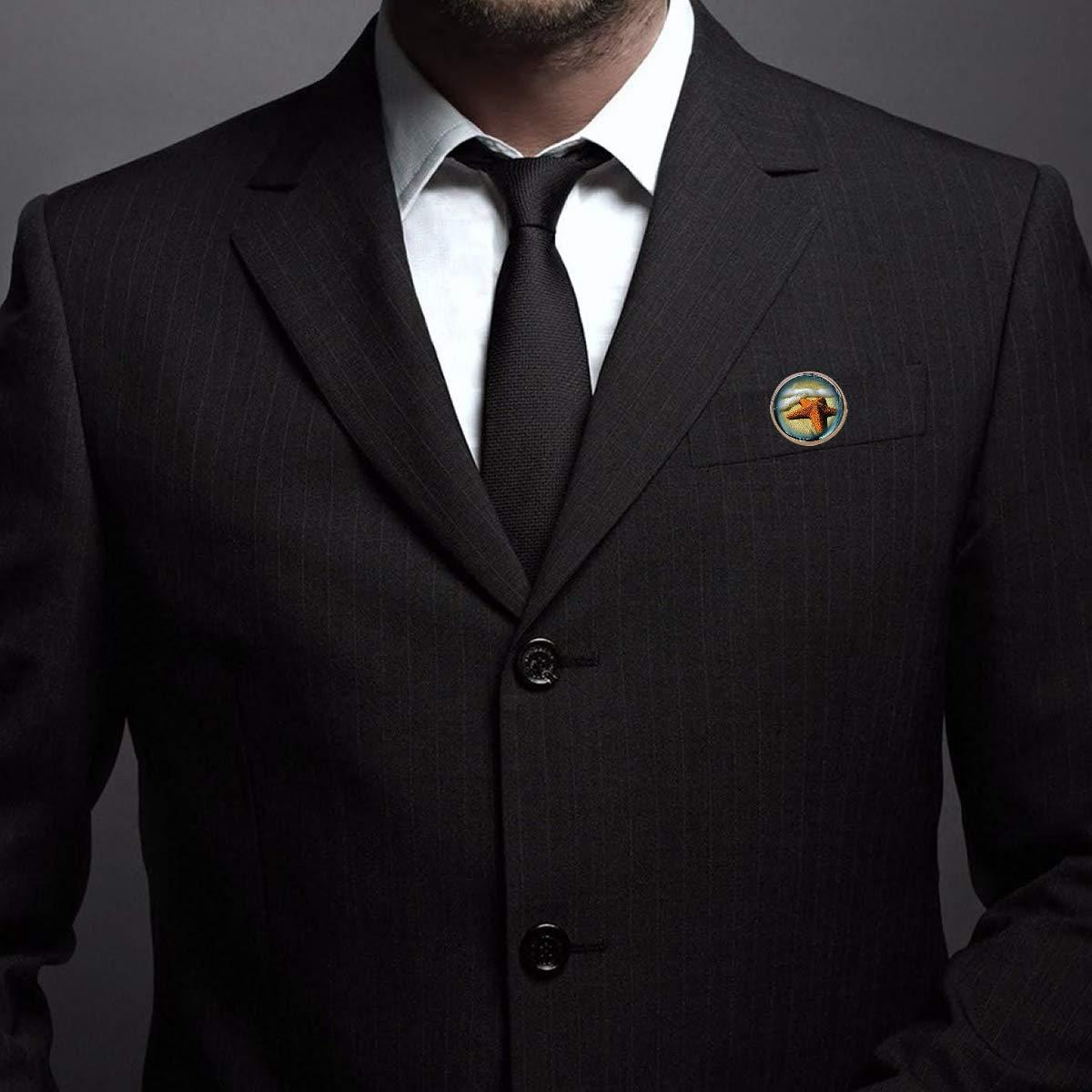 Pinback Buttons Badges Pins Orange Starfish Lapel Pin Brooch Clip Trendy Accessory Jacket T-Shirt Bag Hat Shoe