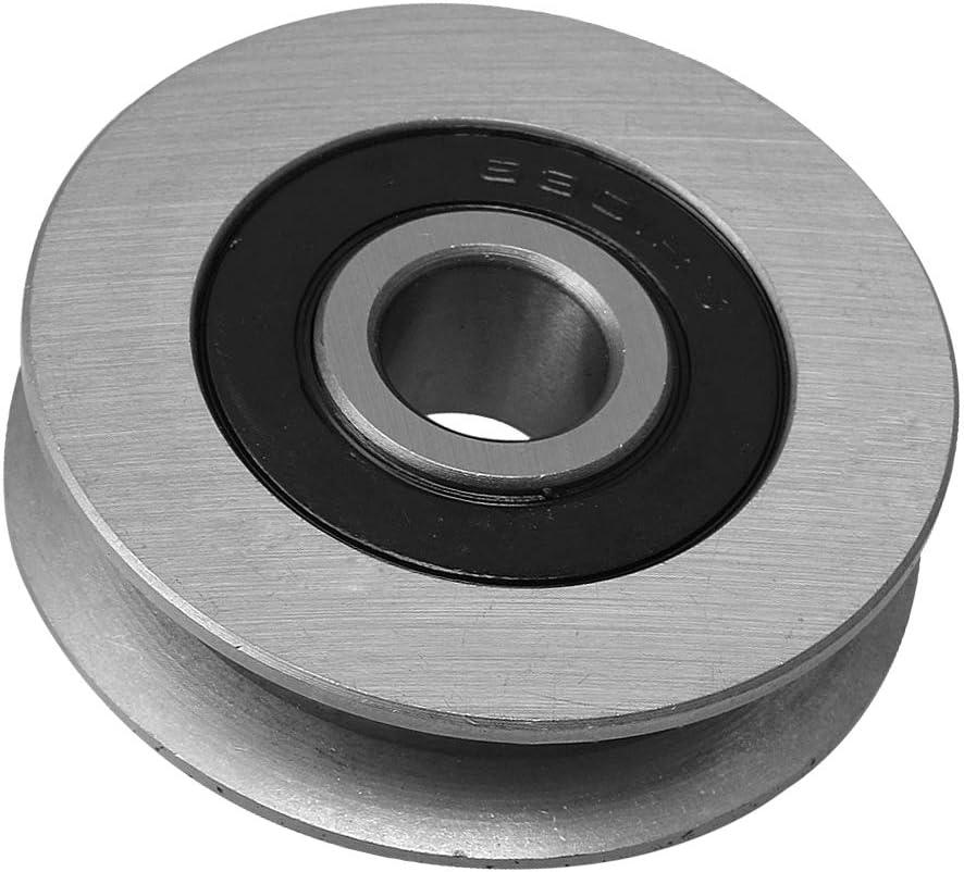 Polea del cable del cojinete de hierro en forma de U de Yibuy para el abrepuerta de garaje de 50 mm de titanio