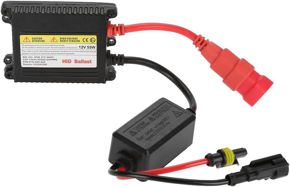 Qiilu 12/V 55/W universal Auto Digital Xenon DC HID Balastro 2pcs todos los Serie Plug-It para herramientas de repuesto para H1/H3/H4/H7/H10/H11/9005/9006/D2R D2S