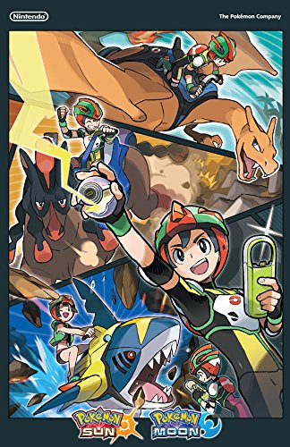 GameStop Exclusive Pokemon Sun and Pokemon Moon Double Sided Poster