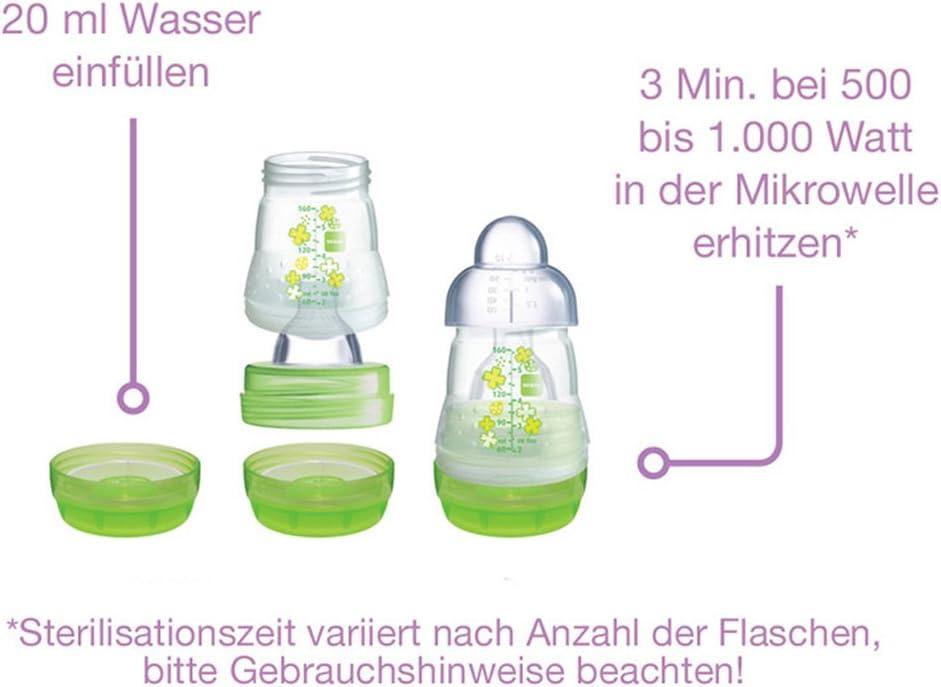 Mam Anti colic Botella 160/ml////Juego De 2/Uni////Incluye Aspiradora tama/ño 1/de 0/a////