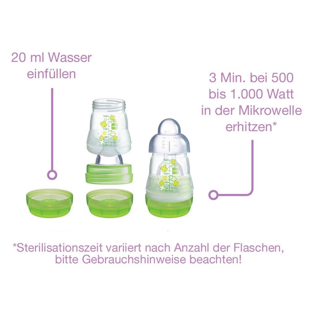 MAM Anti Colic Premium Stillen-Starter Set Girl Neugeborenen-Set ab Geburt inkl Milchpumpe 2018 Flaschenb/ürste