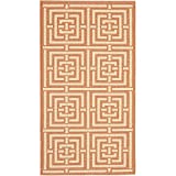 Cheap Safavieh Courtyard Collection CY6937-21 Terracotta and Cream Indoor/Outdoor Area Rug (9′ x 12′)