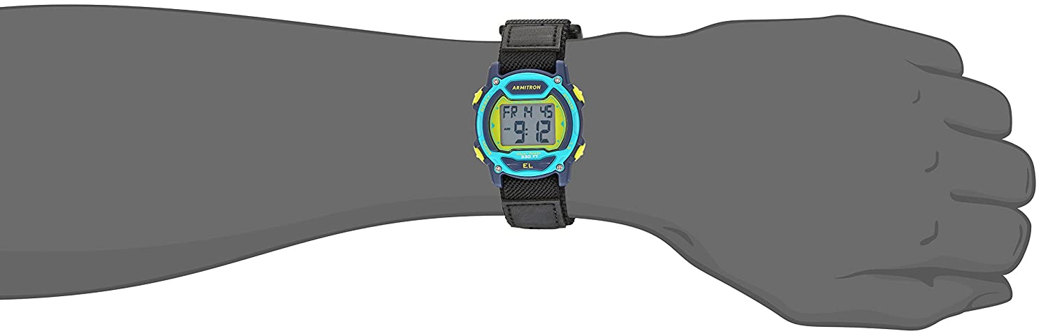 Armitron Sport Unisex 45 7004NVY Digital Chronograph Black Nylon Strap Watch