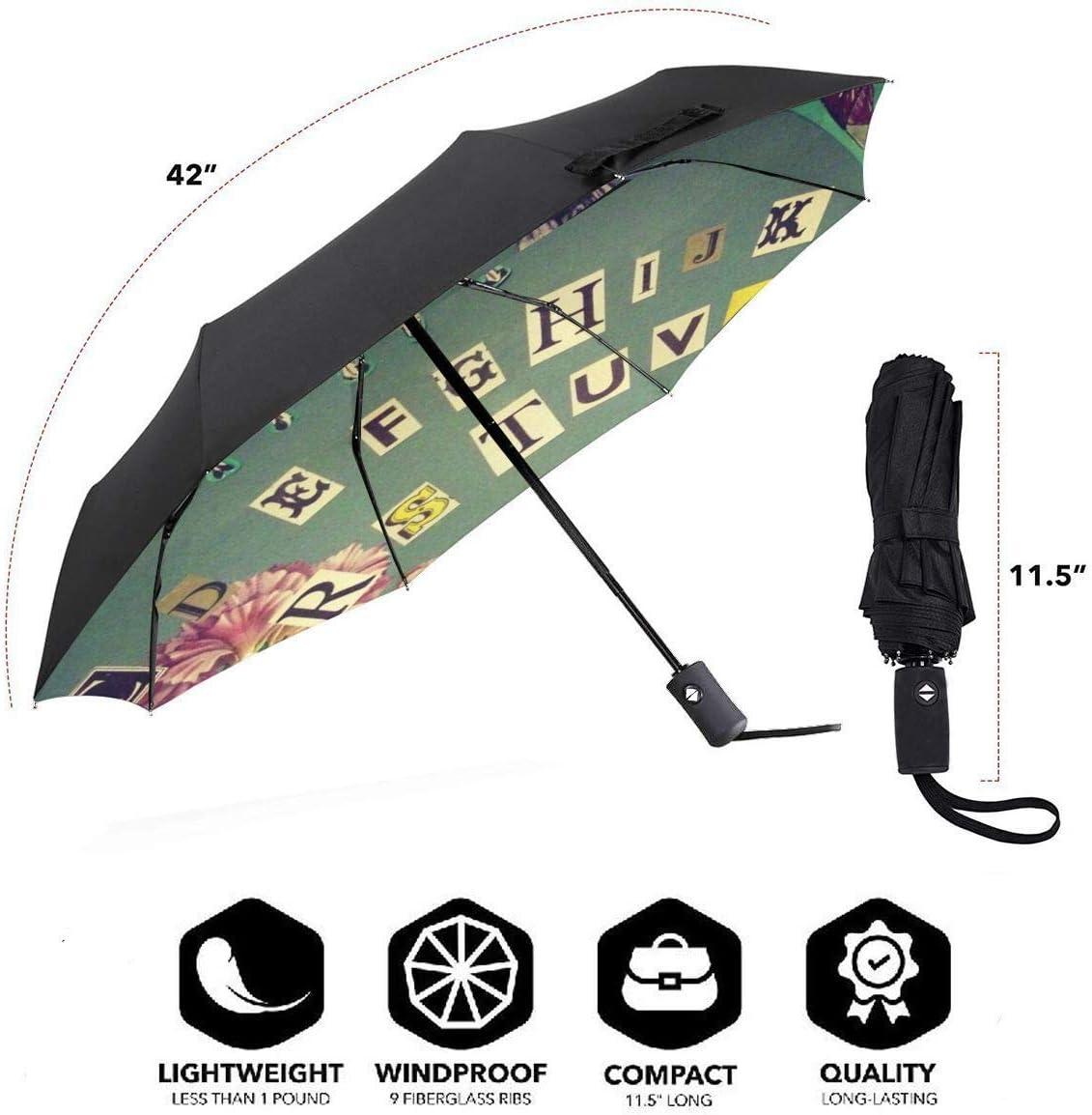 Ouija Board Skull Colorful Travel Umbrella Lightweight Compact Parasol Canopy Ergonomic With UV Protection For Sun Rain Auto Open And Close