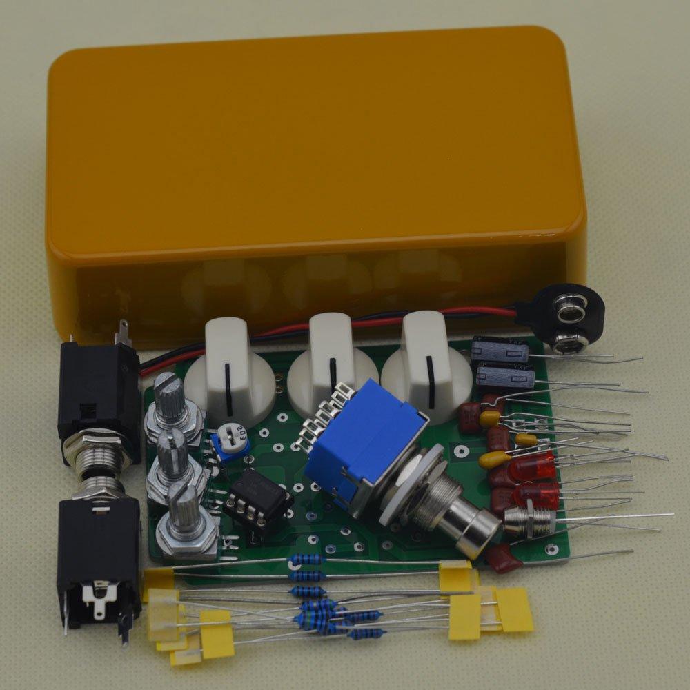 TTONE DIY Distortion Guitar Pedal DS-1 Effects Stompbox Kit Orange No Holes