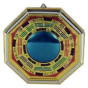 """indianstore4all potente Fengshui Bagua auténtico protección espejo, 8""""x8"""" inches-for energía positiva en casa, lugar de trabajo, amuleto de la suerte amuleto"""