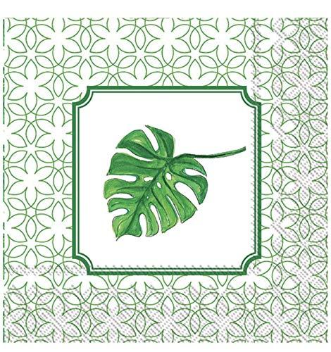 (Mesafina Rosanne Beck Heart Palm Leaf Cocktail Beverage Paper Napkins, 40 ct)