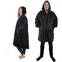 SOLUCKY Sweat-Shirt Unisexe de Style Sports d'hiver - Couverture à Capuche réversible très Chaude et Chaude