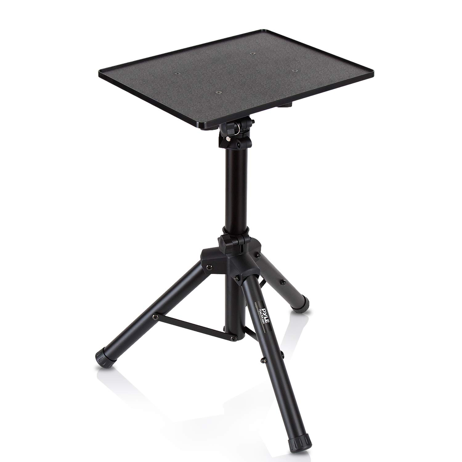 Universal Laptop Projector Tripod Stand - Computer, Book, DJ Equipment Holder Mount Height Adjustable Up to 35 Inches w/ 14'' x 11'' Plate Size - Perfect for Stage or Studio Use - PylePro PLPTS2 Sound Around