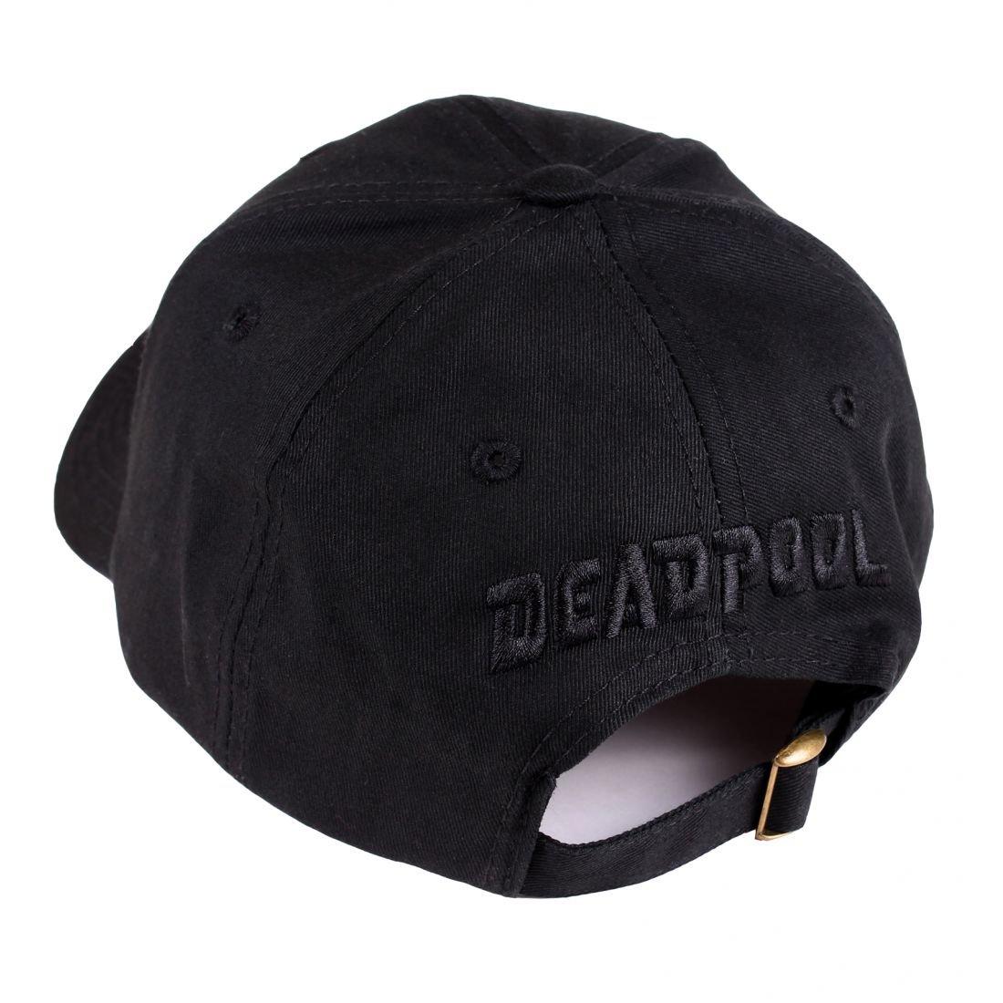 Deadpool logo gorra de béisbol de metal negro de algodón Marvel: Amazon.es: Juguetes y juegos