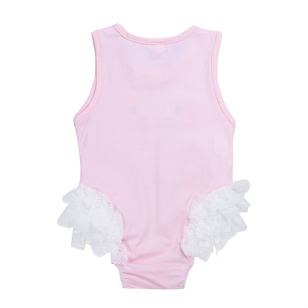 Agoky Infant Baby Girls Sleeveless Swan Pattern Romper Jumpsuit Costumes
