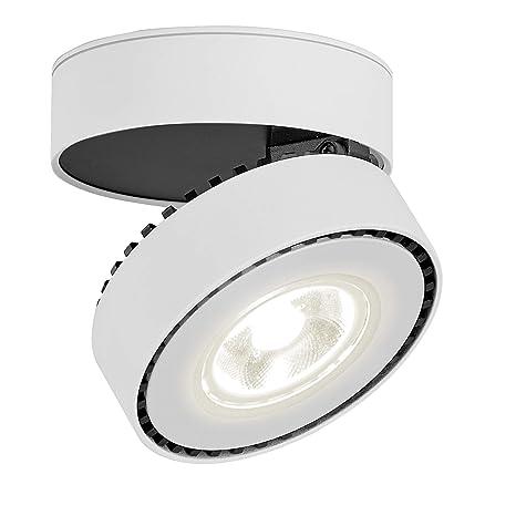 LANBOS 12W Lámpara de techo LED,Foco LED para techo y pared, Focos para el techo,Lámpara de pared,Luz de techo led,Plafón con Focos,Orientable, IP20, ...