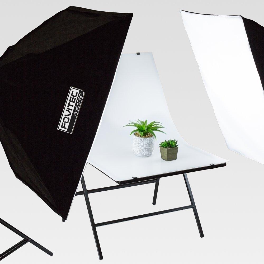 pour Produit Photographie 61/cm x 101/cm Macro et Nature Morte avec Double Face Antireflet Fond Blanc /Portable Pliable Studio Table de Prise de Vue Fovitec/