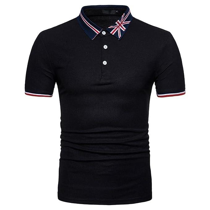 Absolute Poloshirt Herren,T-Shirt Männer Kurzarm Polo Shirt Hemd Drucken  Polo Blusen Shirt 257d38a93a