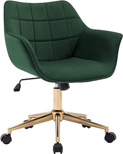 Duhome Modern Home Office Chair Velvet Desk Chair
