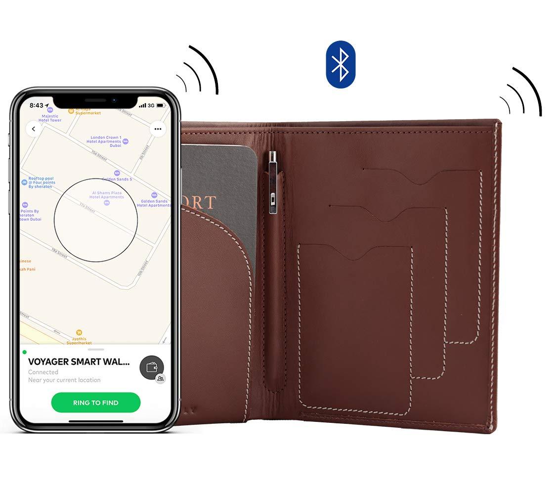 Voyager Anti-Theft Travel Smart Wallet premium leather