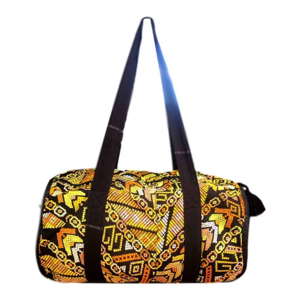 Maya Geometry Handmade Guatemalan Duffel Bag
