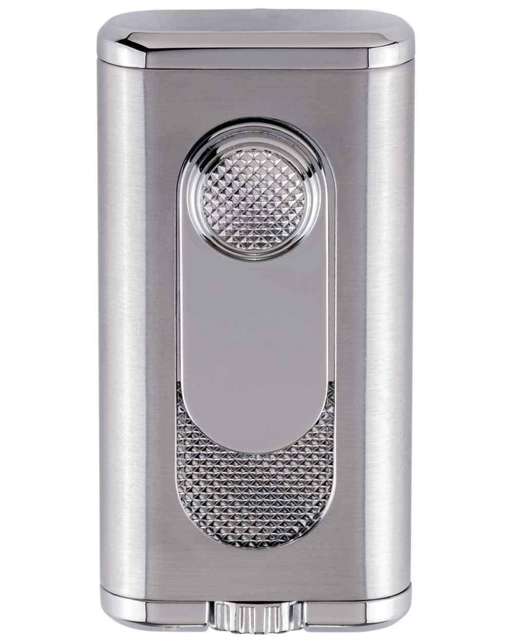Xikar Verano Flat Flame Cigar Lighter, Attractive Gift Box, Elegant Metal Construction, Lifetime Warranty, Silver
