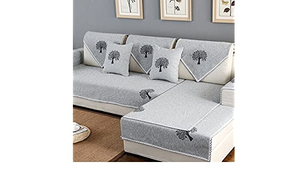 Z & HX- Conjunto De Sofás Corner Sofa Set Hemp, Sala De ...