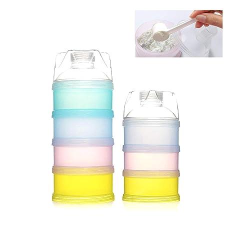Leche en Polvo Dispensador, tangger portátil Niños Leche en Polvo Dosificador Caja libre de BPA