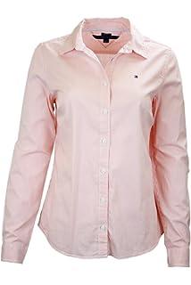 e0b0ac72 Tommy Hilfiger Gingham-Print Roll-Tab-Sleeve Shirt (Light Carnation ...