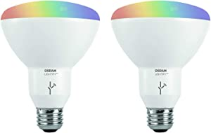 Sylvania Osram Lightify Smart Home 65W BR30 White/Color LED Light Bulb (2 Bulbs)