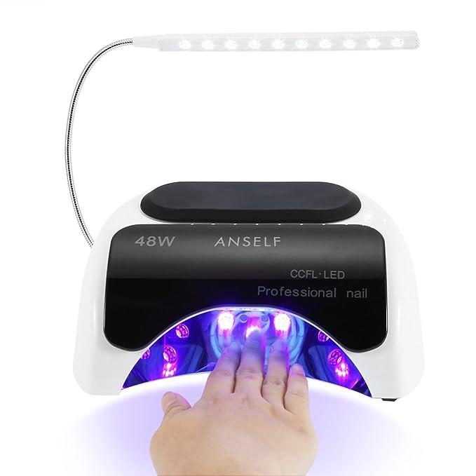 Anself - Lámpara Manicura Para Secado De Gel De Uñas,48W LED+CCFL ...