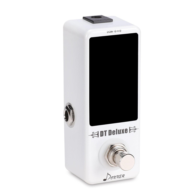 Donner - DT Deluxe Afinador Sintonizador para Guitarra Pedal de Efectos True Bypass: Amazon.es: Instrumentos musicales